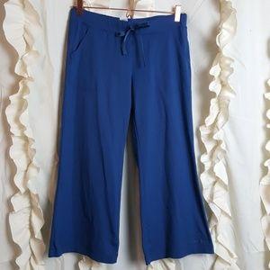 Patagonia wide leg yoga Capri legging teal blue